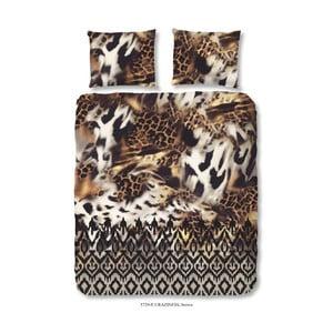 Brązowa pościel Muller Textiel Craziness, 140x200 cm