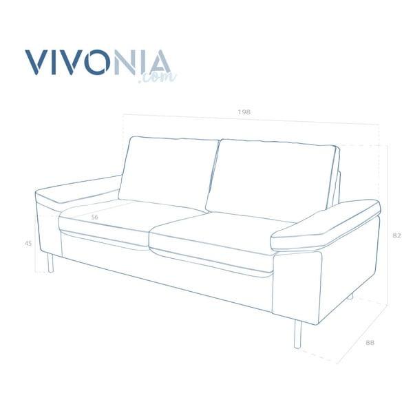 Różowa sofa dwuosobowa Vivonita Nathan