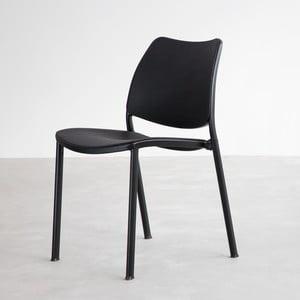 Krzesło Gas, czarne, czarne nogi