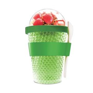 Zielony kubek termiczny na jogurt Asobu Chill Yo 2 Go, 380 ml