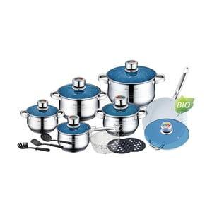 18-częściowy zestaw garnków i patelni Cookware z patelnią ceramiczną
