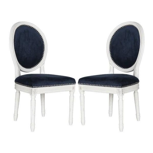 Komplet 2 krzeseł Navy Velvet