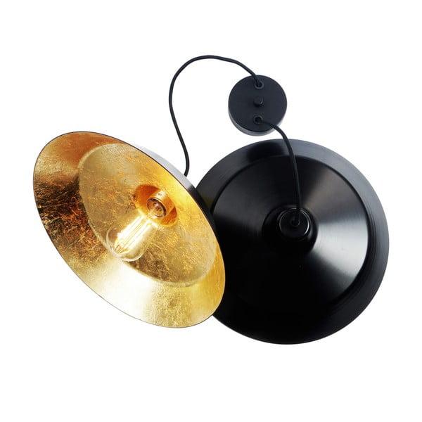 Zestaw 2 lamp wiszących Cinco, złoto-czarna