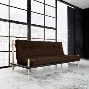 Sofa rozkładana Karup Point, Black/Raw Beech/Choco Brown
