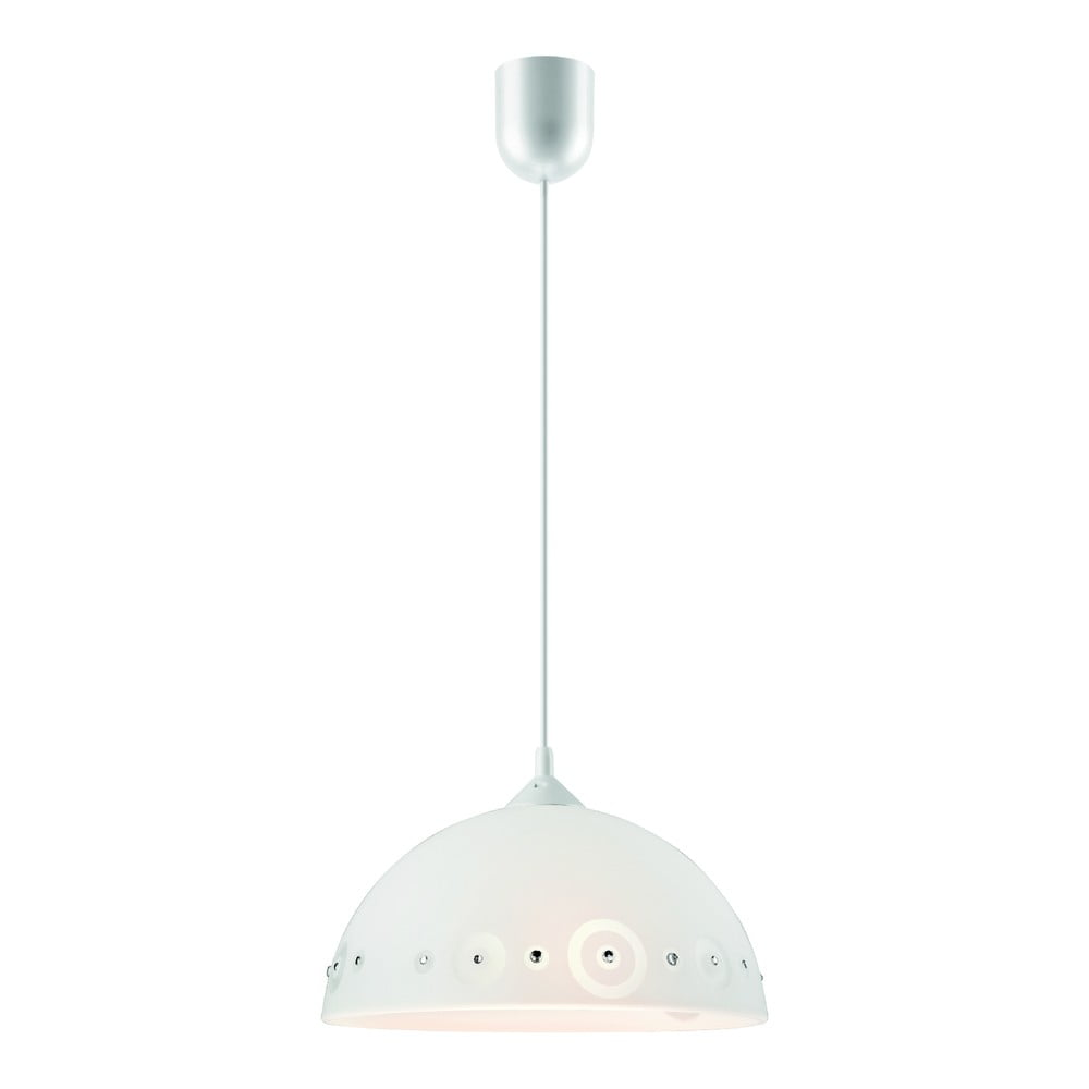 Biała lampa wisząca Lamkur Dots