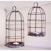 Lampion Bird Cage Light 26 cm, szary