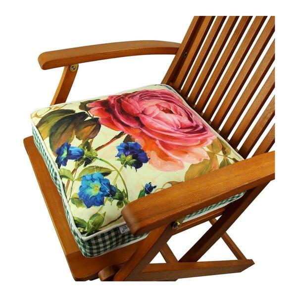 Poduszka na krzesło z wypełnieniem Gravel Bedford, 42x42cm
