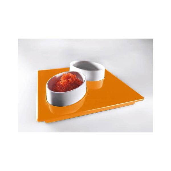 Zestaw do serwowania przekąsek Entity Orange