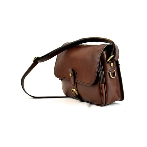 Skórzana torebka Santo Croce M6807 Dark Brown