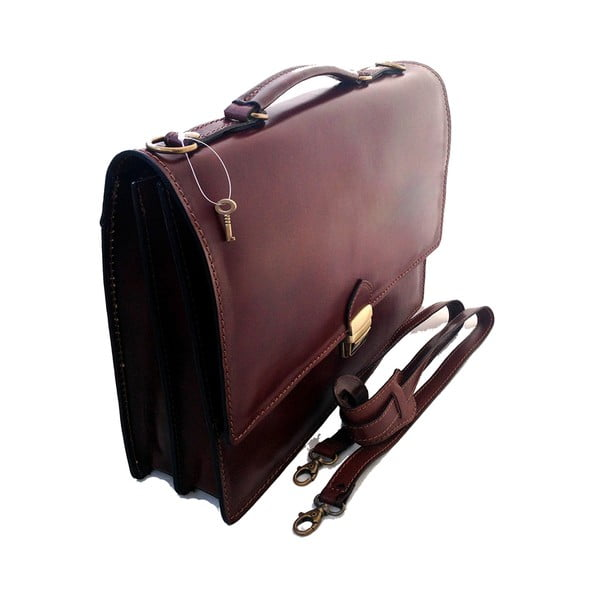 Skórzana torba Lambrusco, czekoladowa
