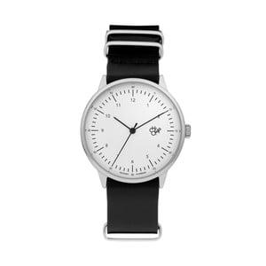 Zegarek z czarnym paskiem i białą tarczą Cheapo Harold