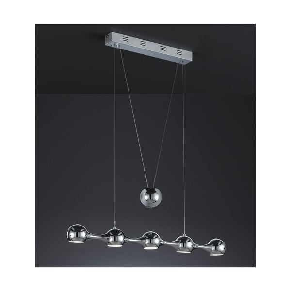 Lampa sufitowa Five Bones, chromowana