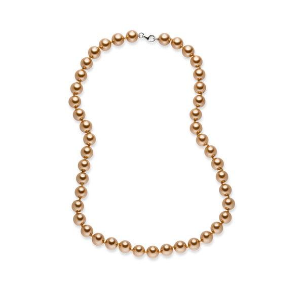 Złoty perłowy naszyjnik Nova Pearls Copenhagen Mara de Vida, długość 50 cm