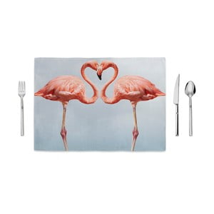 Mata kuchenna Home de Bleu Kissing Flamingos, 35x49 cm