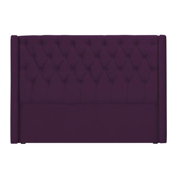 Fioletowy zagłówek łóżka Windsor & Co Sofas Queen, 156x120 cm