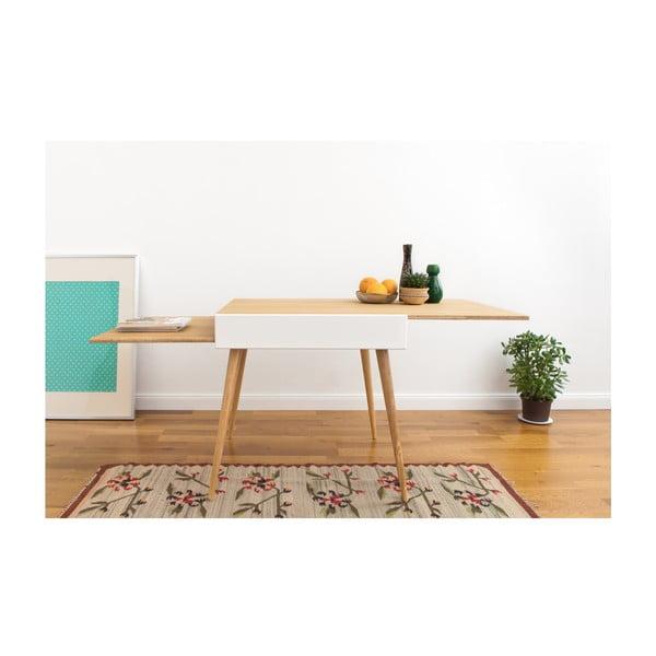 Stół rozkładany Slide White, 80x75 cm