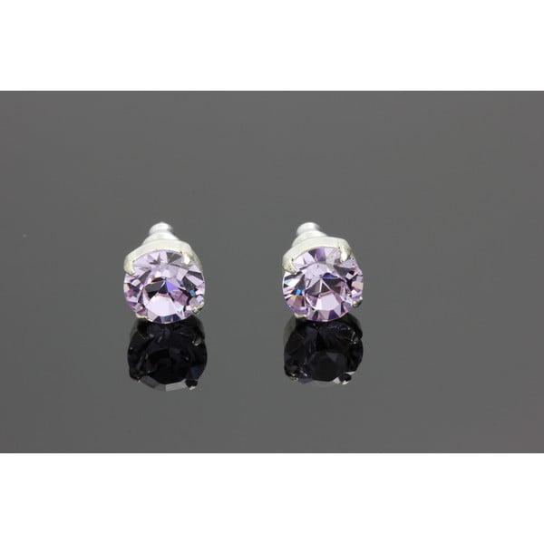 Kolczyki Swarovski Elements Violet