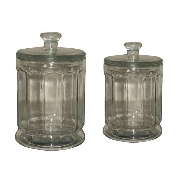 Zestaw 2 pojemników szklanych Antic Line Jar