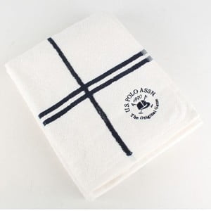 Ręcznik S Polo Bath Towel White and Navy, 70x140 cm