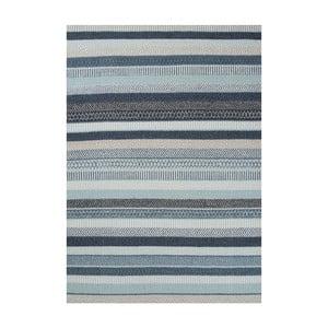 Niebieski dywan wełniany Linie Design Mariko, 140x200 cm