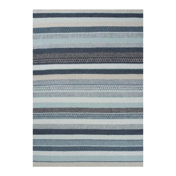 Niebieski dywan wełniany Linie Design Mariko, 200x300 cm