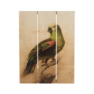 Drewniany obraz Dijk Natural Collections Parrot, 19x25 cm