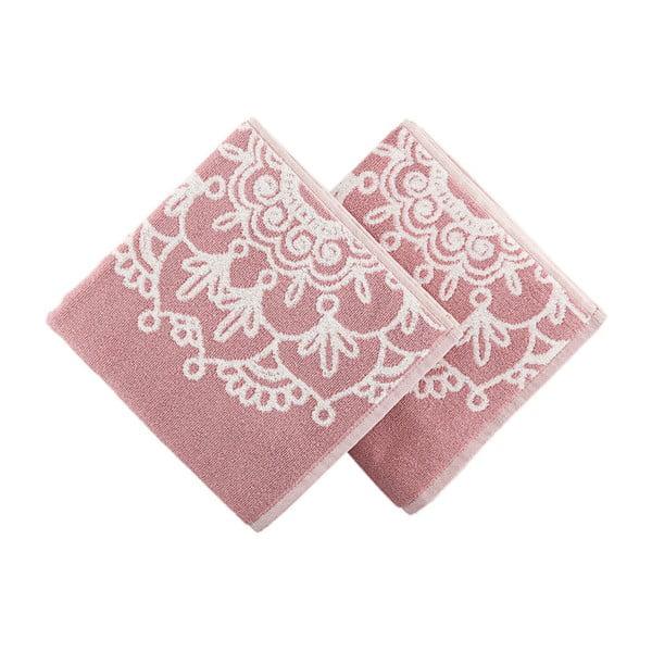 Zestaw 2 ręczników Crazy Vibes Pink, 50x100 cm