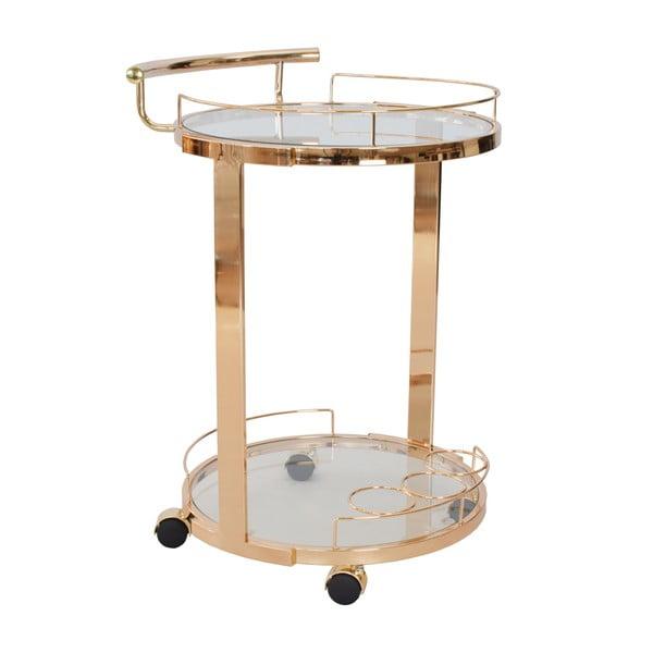 Okrągły stolik ze szklanym blatem RGE Louise