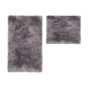 Zestaw 2 dywaników łazienkowych Spotlight Silver