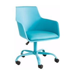Turkusowy regulowany fotel biurowy Støraa Leslie