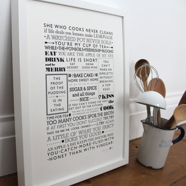 Plakat She Who Cooks, 30x40 cm