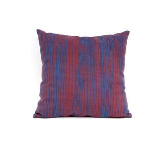 Bordowa poduszka wzorzysta z wypełnieniem Present Time Oblique
