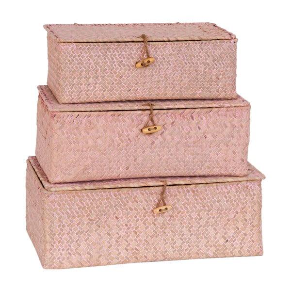 Zestaw 3 koszy Wild Pink