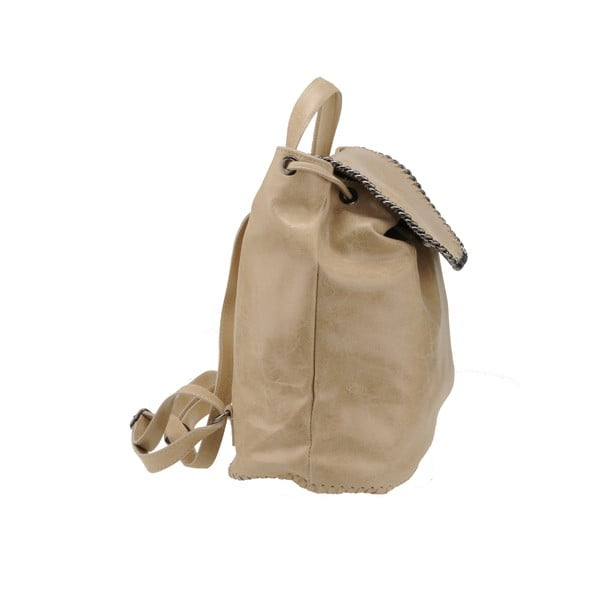 Skórzany plecak Situla, beżowy