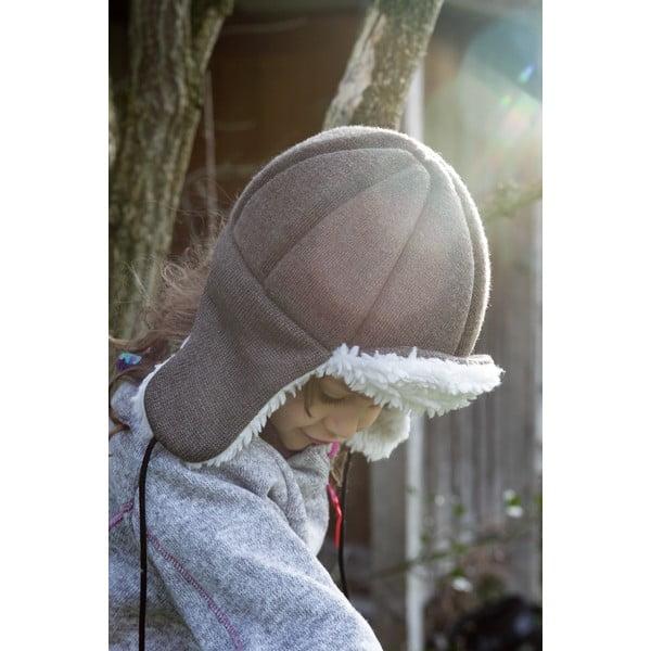 Brązowa dziecięca czapka ochronna Ribcap Bieber, M