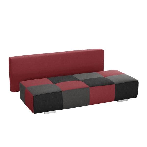 Różowo-grafitowa sofa rozkładana Dandy