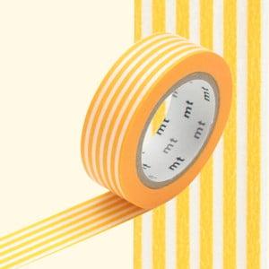 Taśma dekoracyjna washi Border Yellow