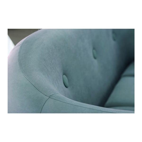Turkusowa sofa 2-osobowa Scandi by Stella Cadente Maison