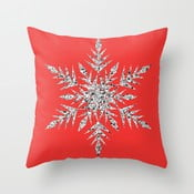 Poszewka na poduszkę Snowflake Red, 45x45 cm