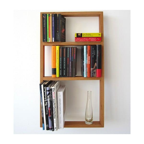 Półka na książki z drewna dębowego das kleine b bertolt, wysokość81cm