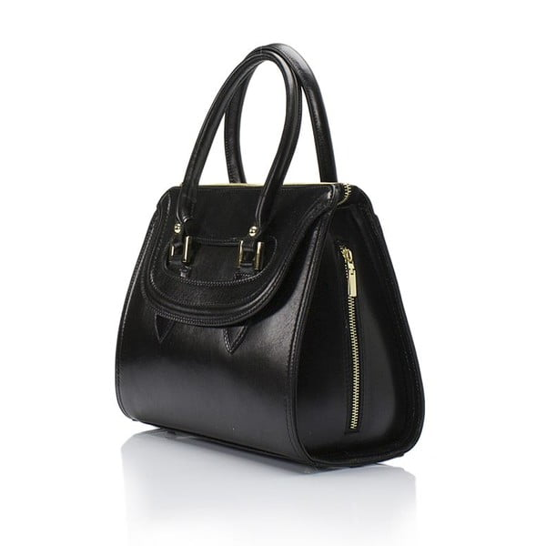 Czarna torebka skórzana Lisa Minardi Calf
