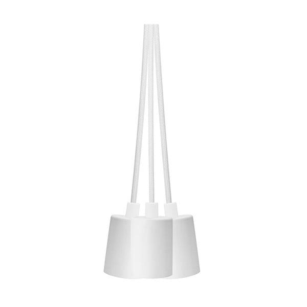 Biała lampa wisząca z 3 kablami Bulb Attack Cero Group