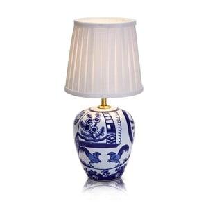 Niebiesko-biała mała lampa stołowa Markslöjd Göteborg