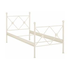 Białe łóżko jednoosobowe Støraa Johnson, 90x200cm