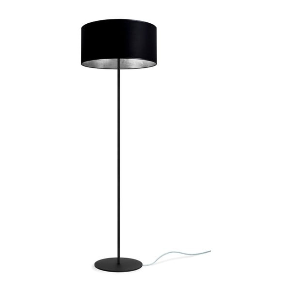 Czarno-srebrna lampa stojąca Bulb Attack Tres