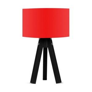 Lampa stołowa z czerwonym abażurem Kate Louise Blackie