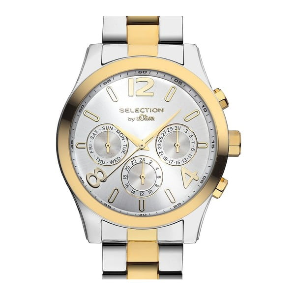 Złoto-srebrny zegarek s.Oliver