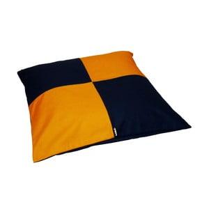 Poduszka do siedzenia Lona Puff  80x20 cm, niebiesko-żółty