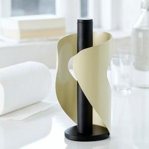 Kremowo-czarny stojak na ręczniki papierowe Steel Function Pisa