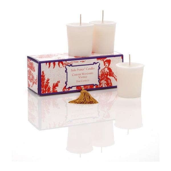 Zestaw 6 świeczek Chinese Mandarin, 12-15h palenia